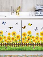 Botânico Moda Floral Adesivos de Parede Autocolantes de Aviões para Parede Autocolantes de Parede Decorativos Autocolantes de Medição,