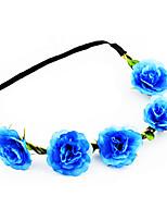 Women's Fabric Hair Clip Handmade Chinese Rose Cute Party Casual Spring Summer Headband Headpiece Head Wreath  Hair Accessories  Flower