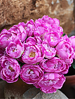(12 head)Artificial Peony Bouquet Silk Roses Wedding Decor Fake Flower Peony Real Touch Roses Bridal Bouquet Home Party Decor
