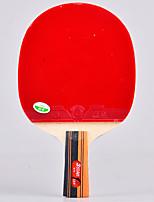 3 étoiles Ping Pang/Tennis de table Raquettes Ping Pang Bois Manche Court Boutons