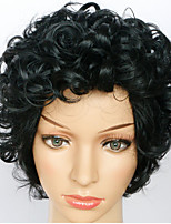 Synthetic Short Wigs Natural Hair Wave Popular Short Synthetic Black Curly Heat Resistant Wigs For Women