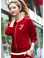 Women's Casual/Daily Sports Simple Hoodie Pant Suits,Letter Stand Micro-elastic