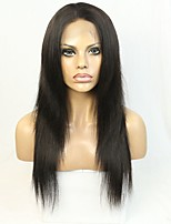 Illusion Hairline Natural Straight Human Hair Lace front Wig For Blackwomen with Baby Hair