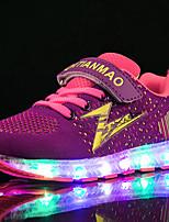 Черный Синий Розовый-Девочки-Для прогулок Повседневный Для занятий спортом-Тюль Ткань-На низком каблуке-Light Up обувь Светящийся обуви-