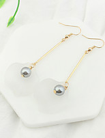 Drop Earrings Imitation Pearl Euramerican Fashion Acrylic Copper Jewelry For Party 1 Pair