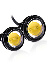2pcs 18MM White Color Led Eagle Eye Light Daytime Running Drl Backup Car DC12V