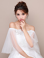 Off-shoulder Women's Wrap Capelets Tulle Wedding Party/Evening