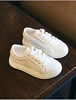 -Девочки-Для прогулок Повседневный-Полиуретан-На низком каблуке-Обувь для малышей-На плокой подошве