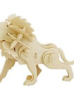 Puzzles Puzzles 3D Blocs de Construction Jouets DIY  Lion Bois Maquette & Jeu de Construction