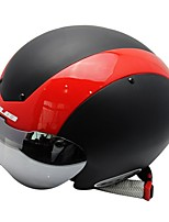 Sports Unisex Bike Helmet 13 Vents Cycling Cycling Mountain Cycling Road Cycling PC EPS Red With Cool Glasses Road Site