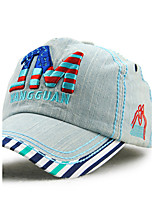 Men's Cotton Baseball Cap Sun Hat Outdoors Sports Vintage Casual Color Block Striped Print Embroidery Summer All Seasons Blue/Orange/Yellow/Grey