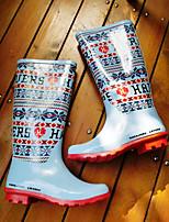 -Для женщин-Повседневный-Резина-На низком каблуке-Удобная обувь-Ботинки