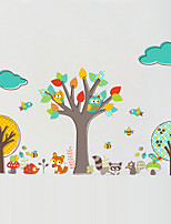 Wall Stickers Wall Decals Style Cartoon Creative Tree Owl PVC Wall Stickers