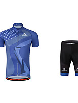 Cycling Jersey with Shorts Bike 3D Pad Reflective Strips Polyester Coolmax Spring Summer Fall/Autumn Cycling/Bike