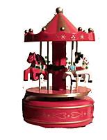 Music Box Circular Novelty & Gag Toys Wood Kid's Female