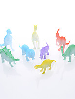 Realistic translucent dinosaur toys 8PS