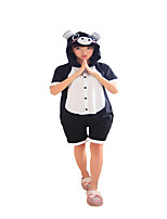 Kigurumi Pajamas Piggy/Pig Leotard/Onesie Festival/Holiday Animal Sleepwear Halloween Black Solid Cotton Cosplay Costumes Kigurumi For