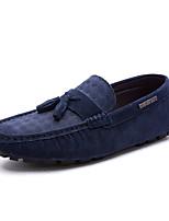 -Для мужчин-Для прогулок Для офиса Повседневный-Свиная кожа-На плоской подошве-Светодиодные подошвы Баллок обувь-Топ-сайдеры