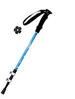 3 Bengalas para Caminhar Nórdicas 1 Pças. 135 centímetros (53 polegadas) Húmido Dobrável Peso Leve Ajustável Liga de Alúminio 7075Acampar