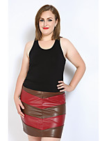 Really Love Women's Work Daily Party Going out Casual/Daily Club Holiday Mini Skirts,Sexy Street chic Punk & Gothic Pencil Bodycon PatchworkColor