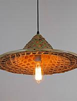 Vintage Straw hat Pendant Lights 1-light Dining Room Living Room Lighting