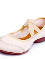 Keine Maßfertigung möglich-Niedriger Heel-Leder Stoff-Modern-Damen