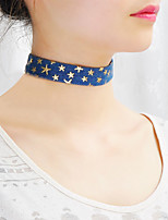 Women's Choker Necklaces Collar Necklace Scarf Necklaces Jewelry Single Strand Fabric Basic Handmade Fashion Personalized Simple Style DIY