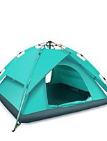 3-4 personnes Tente Double Tente automatique Une pièce Tente de camping >3000mm Fibre de verre Taffetas en PolyesterRésistant à