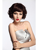 Top Quality Short Wavy Synthetic Wig Style Costume Party Fashion Wig Black Color Wig