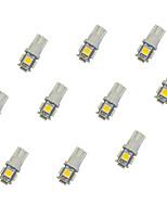 10Pcs T10 5*5050 SMD LED Car Light Bulb Warm Light DC12V