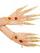 Belly Dance Dance Glove Women's Performance Metal Crystals/Rhinestones 2 Pieces Bracelets