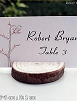 Bois Cartes de Lieux Porte-cartes de lieu Carte de numéro de table Marque-place debout Sac en polyéthylène