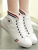 Damen-Sneaker-Lässig-LeinwandKomfort-Weiß Schwarz Rot