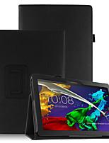 Cubierta de la caja de la PU para la lengüeta 3 del tab3 del lengüeta 3 10 negocios x70f tb3-x70f x103f con el protector de la pantalla