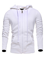 Men's Plus Size Sports Active Simple Hoodie Solid Pure Color Round Neck Micro-elastic Cotton Rayon Long Sleeve