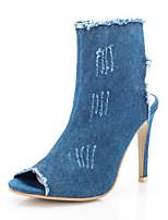 -Для женщин-Для прогулок Для офиса Для праздника Повседневный Для вечеринки / ужина-Деним-На шпильке-Удобная обувь Оригинальная обувь
