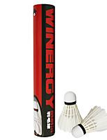 1 Stücke Badminton Federbälle Federbälle aus echten Federn tragbar Langlebig Stabilität für Gänsefeder