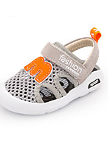 Kids' Baby Sandals First Walkers Pigskin Summer Casual First Walkers Flat Heel Black Gray Green Blushing Pink Flat