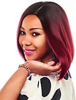 Fashion Black To Blonde Red Purple Green Ombre Color Straight BOBO Wigs For Afro European Synthetic Wig