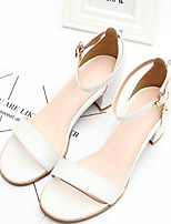 Women's Sandals Spring Comfort PU Leather Casual Almond Red Black White