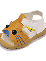 Boys' Sandals Spring Summer Fall Comfort PU Casual Flat Heel Yellow White