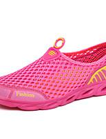 Women's Sneakers Spring Summer Comfort Couple Shoes PU Outdoor Athletic Casual Flat Heel Fuchsia Purple Gray Walking