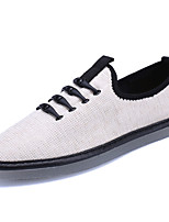 Men's Sneakers Spring Fall Light Soles Tulle Casual Flat Heel Rivet Black Beige Gray Walking