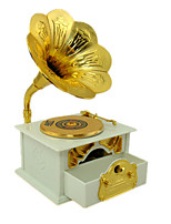 Music Box Phonograph Holiday Supplies Metal Plastic Unisex