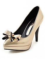 Women's Heels Spring Fall Comfort Leatherette Party & Evening Dress Casual Stiletto Heel Bowknot Blushing Pink Sliver Gold