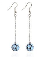 Drop Earrings Earrings Set Earrings Imitation Diamond Basic Cute Style Handmade Fashion Simple Style DIY Rhinestone Alloy Line Ball