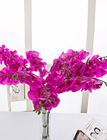 10 Branch PU Orchids Tabletop Flower Artificial Flowers
