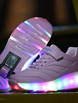 Fille-Extérieure Décontracté Sport-Noir Bleu Rose-Talon Bas-Light Up Chaussures chaussures Luminous-Chaussures d'Athlétisme-Similicuir