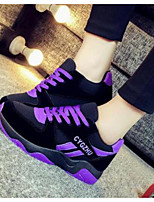 Women's Athletic Shoes Spring Comfort PU Casual Fuchsia Purple Black
