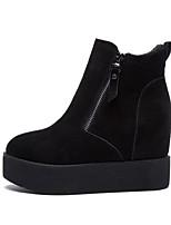Talons féminins chaussures de printemps confort cuir de vachette nappa cuir décontracté